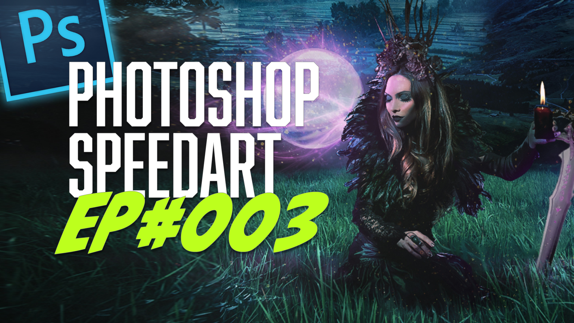 Witchcraft Photoshop Speed Art - Digital Artwork by Dominic Kabuth